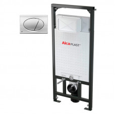 Комплект : система инсталляции Alca plast A101/1200 с хромированой кнопкой M71